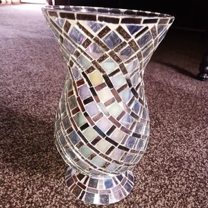 Mosaic candle holder or vase
